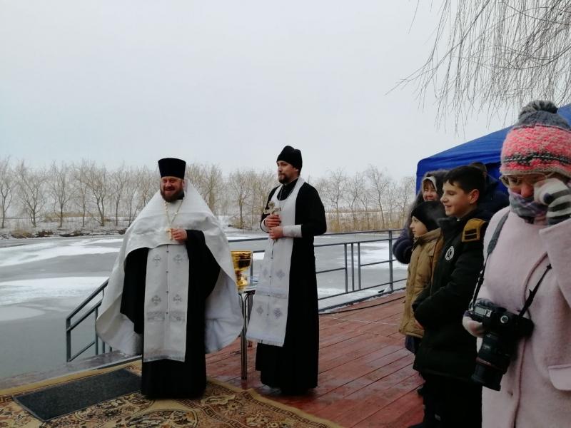 В день празднования Богоявления в селе Займо-Обрыв совершено освящение озера
