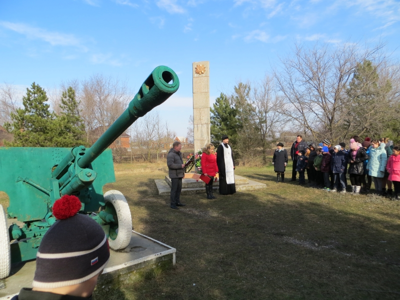 В селе Займо-Обрыв почтили память павших при освобождении Азовского района от немецко-фашистских захватчиков