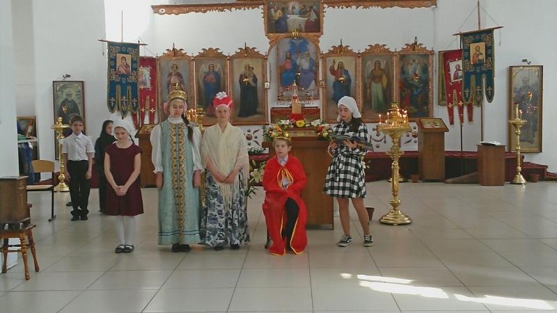 В Преображенском храме села Займо-Обрыв прошел пасхальный детский праздник