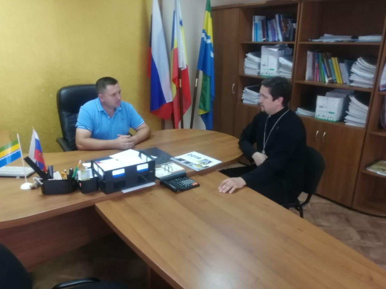 Встреча настоятеля и главы Пешковского сельского поселения